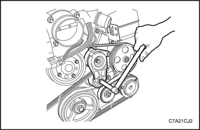 Схема установки ремня генератора s60