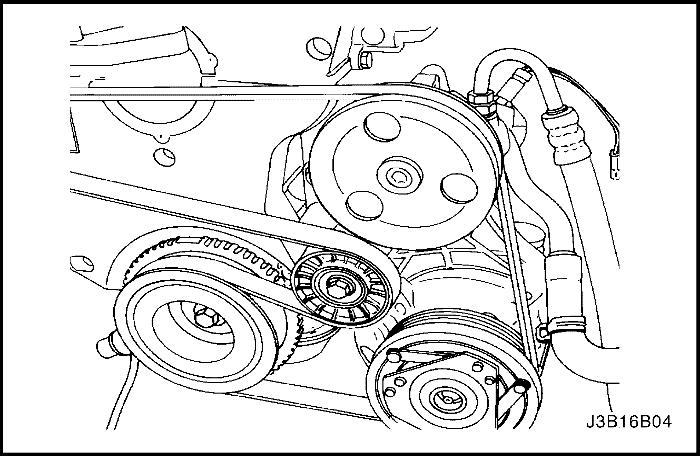 Схема натяжения ремня генератора на шевроле лачетти