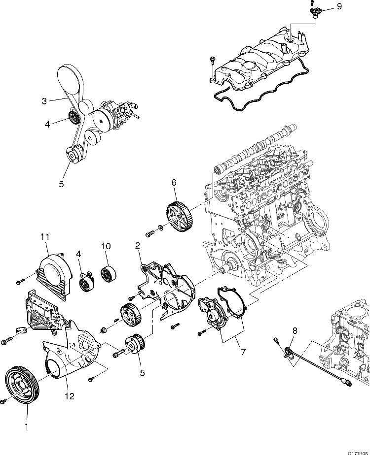 Схема установки грм шевроле авео