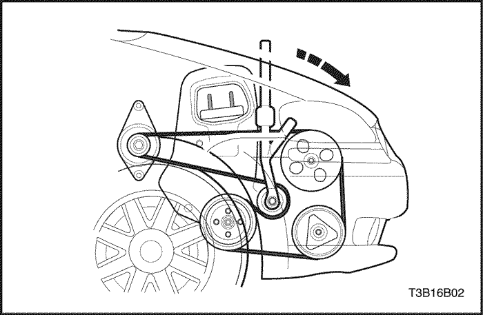 Схема установки ремня генератора на шевроле авео