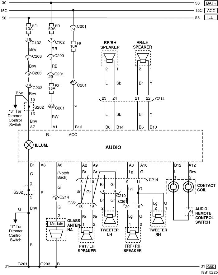 Схема подключение магнитолы на шевроле